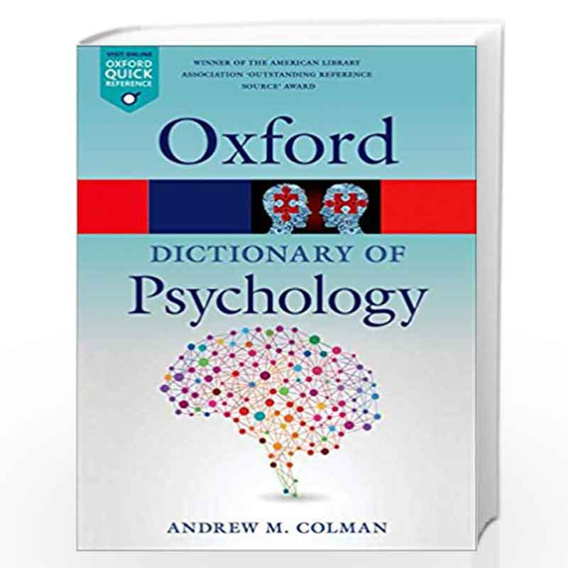 A Dictionary of Psychology (Oxford Quick Reference) by ANDREW M COLMAN Book-9780199657681