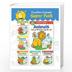 Colouring Books Super Pack Creative Crayons Series A Pack Of 6 Crayon Copy Colour Books