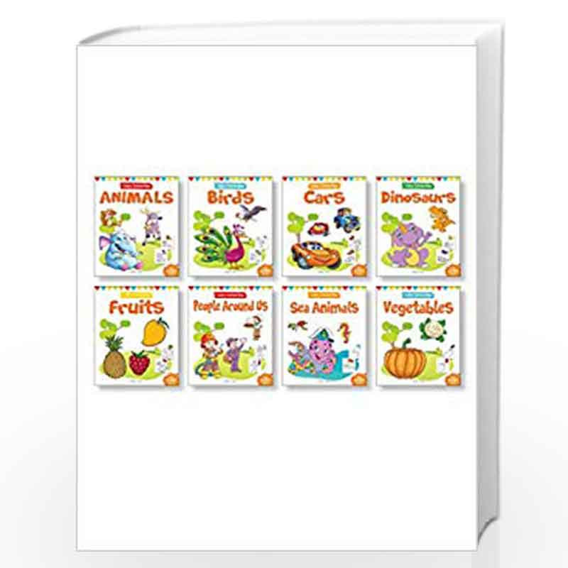 Little Artist Copy Colouring Pack: Set of 8 books (Birds, Sea Animals,  Fruits, Vegetables, Dinosaurs, Cars and People Around Us) by Wonder House  Books