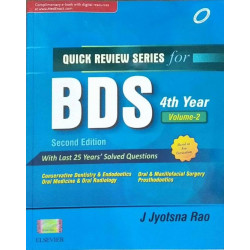 Quick Review Series for BDS 4th Year: Conservative Dentistry and Endodontics by J Jyotsna Rao Book-9788131237779