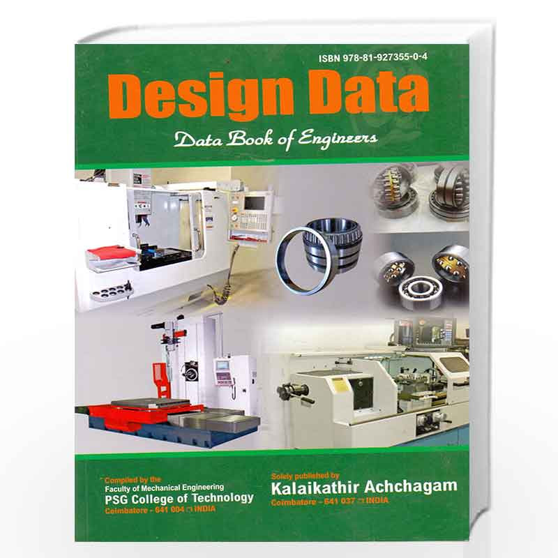psg design data book -Buy design data book By PSG online at Best Price in  India:Madrasshoppe com