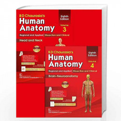 BD Chaurasia's Human Anatomy Regional and Applied Dissection and Clinical: Vol. 3: Head-Neck Brain by GERE Book-9788123923321