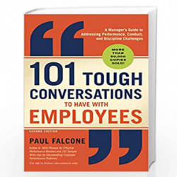 101 Tough Conversations to Have with Employees by Sandi J Davies Book-9781404112681