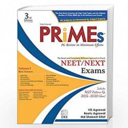 PRiMEs  PG Review in Minimal Efforts (Volume-1): Basic Sciences-2015-2020 (Jan) by AGRAWAL V.D. Book-9788194523437