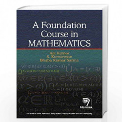 A Foundation Course in Mathematics by Ajit Kumar Book-9788184876109