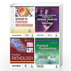 2nd Prof. MBBS Workbook Combo : Pathology + Pharmacology + Microbiology + Forensic Medicine & Toxicology (Set of 4 books) by HAR