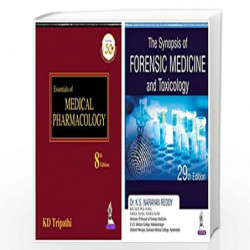 Essentials of Medical Pharmacology + The Synopsis of Forensic Medicine and Toxicology (Set of 2 books) by TRIPATHI KD Book-97893