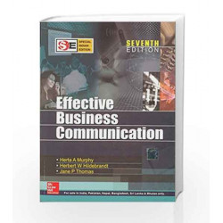Effective Business Communication - SIE by Herta Murphy Book-9780070187757