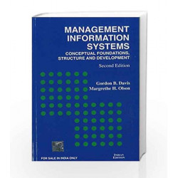 Management Information System: Conceptual Foundations -  Structure and Development by Gordon Davis Book-9780070402676