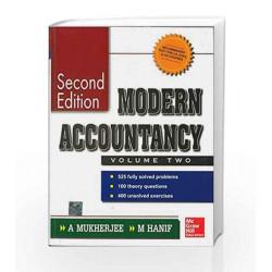 MODERN ACCOUNTANCY VOLUME II by Amitabha Mukherjee Book-9780070499669