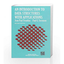 An Introduction to Data Structures with Application by Jean-Paul Tremblay Book-9780074624715
