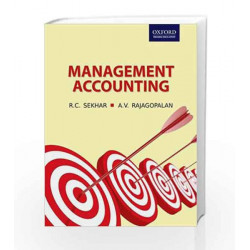 Management Accounting by Sekhar Book-9780195683608