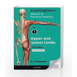 Cunningham\'s Manual Practice Anatomy - Vol. 1 by G. J. Romanes Book-9780199229093
