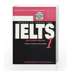 Camb Ielts 1: Self - Study Edition with 2 Audio CDs (South Asian Edition) by Jakeman Book-9780521682145