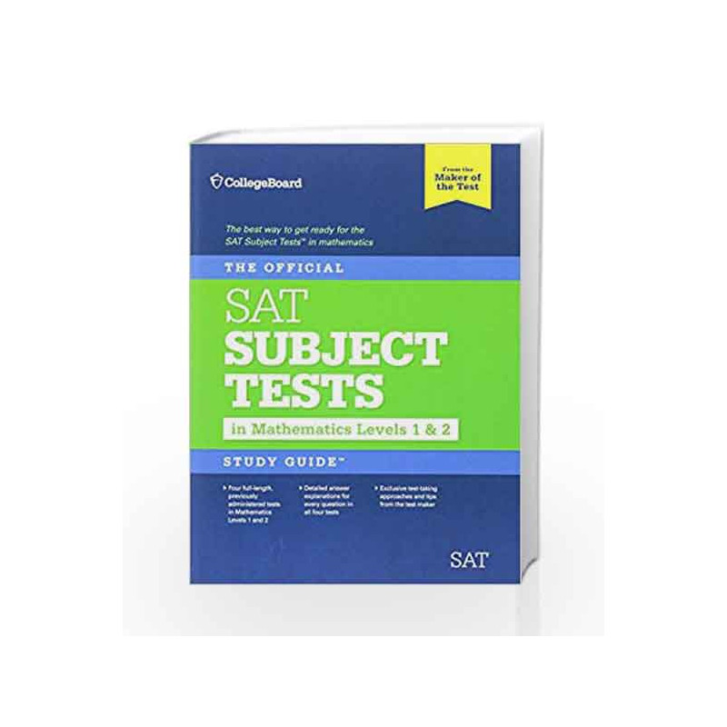 The official sat subject test study guide mathematics level 2