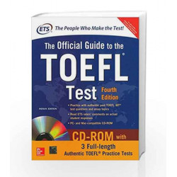 The Official Guide to the TOEFL Test With CD-ROM, 4th Edition by N/A Educational Testing Service Book-9781259061097