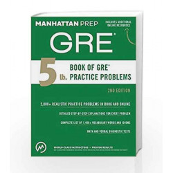 5 lb. Book of GRE Practice Problems by Manhattan Prep Book-9781506234441