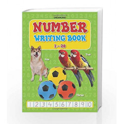 Number Writing Book (1-20) by Dreamland Publications Book-9781730143885