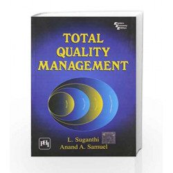 Total Quality Management by Suganthi L Book-9788120326552