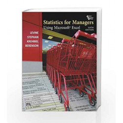 Statistics for Managers using Microsoft Excel by Levine Book-9788120346185
