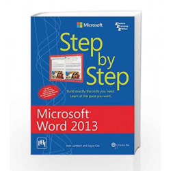 Microsoft Word 2013 Step by Step by Cox Book-9788120347557