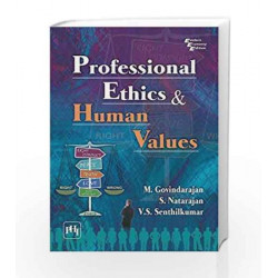 Professional Ethics and Human Values by Govindarajan M Book-9788120348165