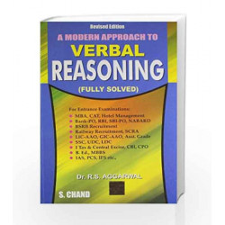 A Modern Approach to Verbal Reasoning (FULLY SOLVED) (Old Edition) by JOHN K. LATTIMER Book-9788121905527