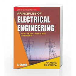 Principles of Electrical Engineering by V.K. Mehta Book-9788121922715
