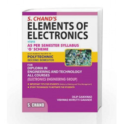 S. Chand\'s Elements of Electronics Polytechnic Second Semester by Dilip Gaikkwad Book-9788121998413