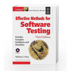 Effective Methods for Software Testing by JOLLEY. Book-9788126508938