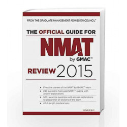 The Official Guide for NMAT by GMAC Review 2015 by GMAC Book-9788126557158