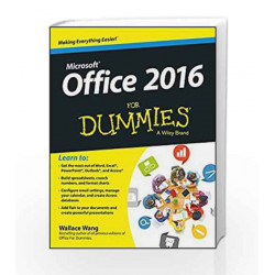 Microsoft Office 2016 for Dummies by VANAMALI. Book-9788126558971