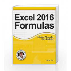 Excel 2016 Formulas (MISL-WILEY) by COMER Book-9788126559879