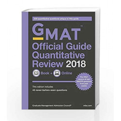 GMAT Official Guide 2018 Quantitative Review: Book/Online by GMAC Book-9788126567058