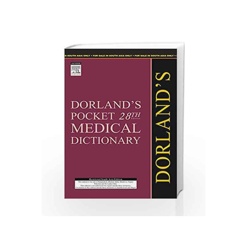 (OLD)DORLAND'S POCKET MEDICAL DICTIONARY by DORLAND-Buy Online  (OLD)DORLAND'S POCKET MEDICAL DICTIONARY Book at Best Price in  India:Madrasshoppe com