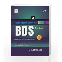 Quick Review Series for BDS 1st Year (Old Edition) by Rao Book-9788131237205