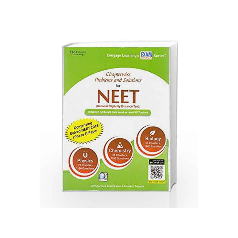 Chapterwise Problems and Solutions for NEET by B M Sharma Book-9788131531433