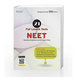 21 Full Length Tests for NEET (National Eligibility-cum-Entrance Test) by Cengage Learning India Book-9788131531655