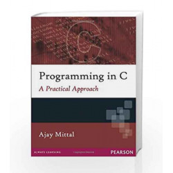 Programming in C by Ajay Mittal Book-9788131729342