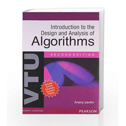 Introduction to Design and Analysis of Algorithms by Anany Levitin Book-9788131758953