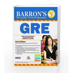 Barrons GRE 21/ed - 2017 by RANGAWALA Book-9788175157637