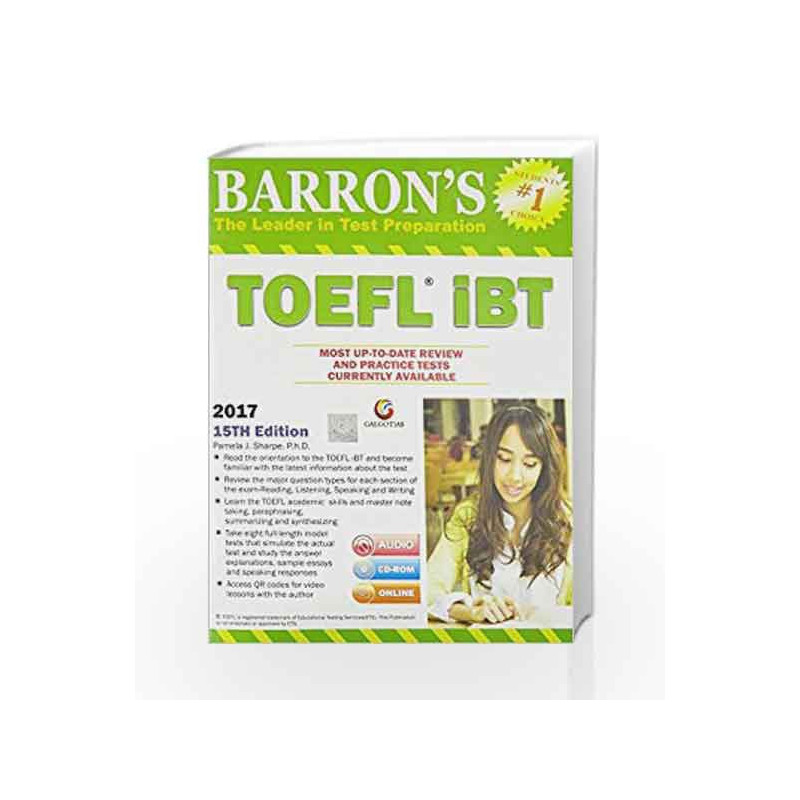 Barrons toefl ibt 15th edition dvd by pamela jarpe phd buy barrons toefl ibt 15th edition dvd by pamela jarpe fandeluxe Choice Image