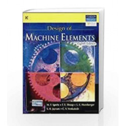 Design of Machine Elements, 8e by SPOTTS Book-9788177584219