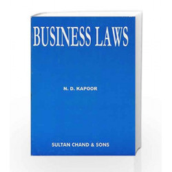 Business Laws by N.D. Kapoor Book-9788180546969