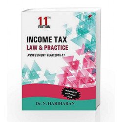 Income Tax Law and Practice 11e by Hariharan N Book-9788182094529
