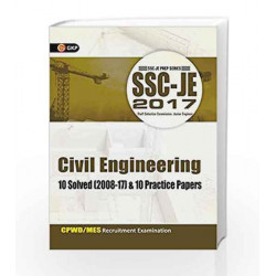 SSC JE Civil Engineering 10 Solved Papers & 10 Practice Papers by GKP Book-9788183554725