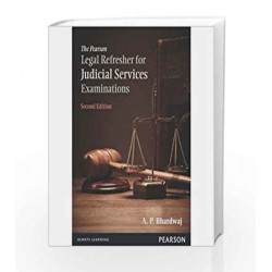 The Pearson Legal Refresher for Judicial Services Examinations, 2e by Bhardwaj Book-9789332519220