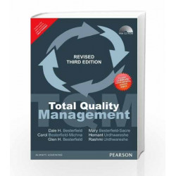 Total Quality Management with CD,Revised AU by Besterfield Book-9789332535909