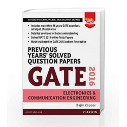 Previous Years\' Solved Question Papers Gate 2016 Electronics and Communication Engineering by Rajiv Kapoor Book-9789332559264