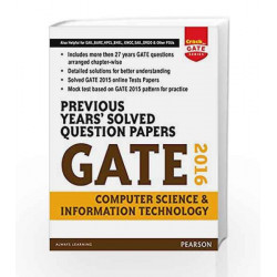 Previous Years\' Solved Question Papers GATE 2016 Computer Science and Information Technology by Pearson Book-9789332559271